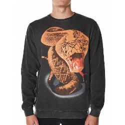 Stussy Mens Jumpers - Stussy Rattler Pigment Crew Fleece Size Extra Large