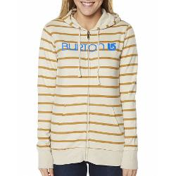 Burton Womens Hoodies - Burton Her Logo Basic Zip Thru Fleece Size Large