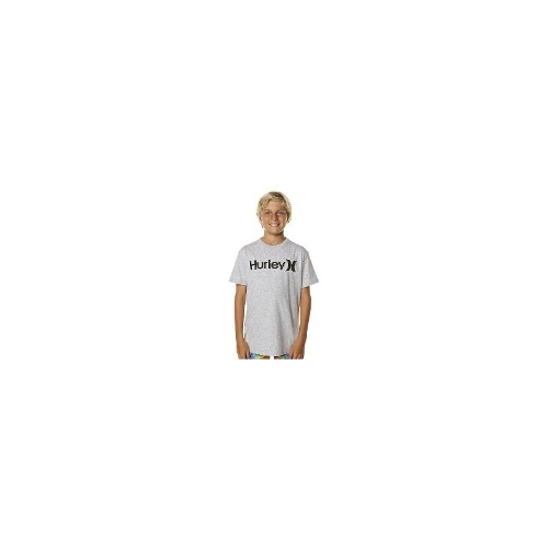 Hurley Boys Tees - Hurley Kids One And Only Core Heather Tee Size 10