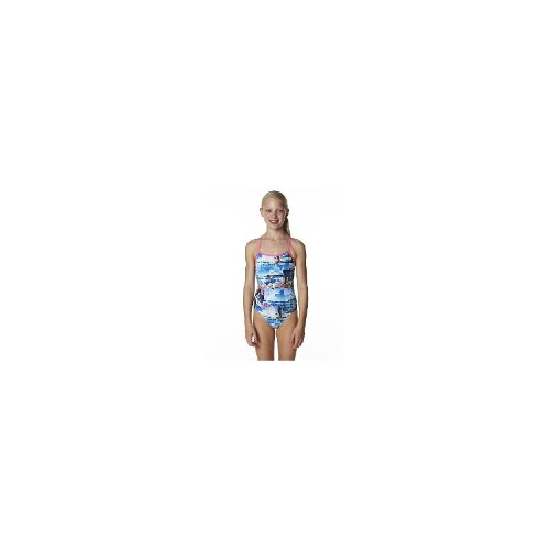 Rival Girls Swimwear - Rival Kids Paintbox Racer One Piece Size 14