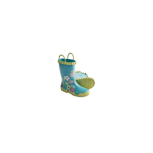 Kamik April Rain Boots - Waterproof, Rubber (For Kids and Youth) - TURQUOISE ( 7 )