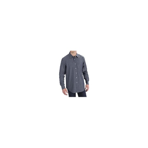 Haggar Spread Collar Shirt - Wrinkle-Resistant, Long Sleeve (For Men) - DRESS BLUE ( L )