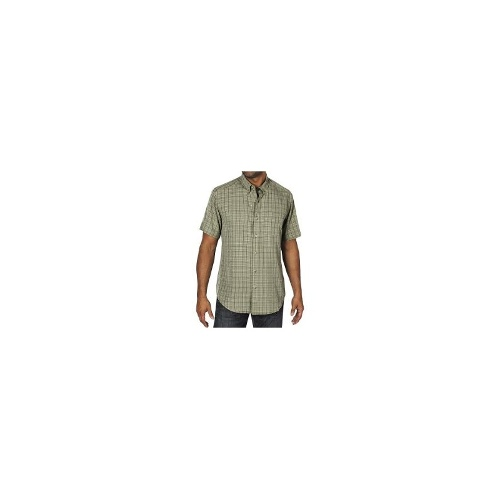 ExOfficio Pisco Micro-Plaid Shirt - Short Sleeve (For Men) - DUSTY OLIVE ( M )