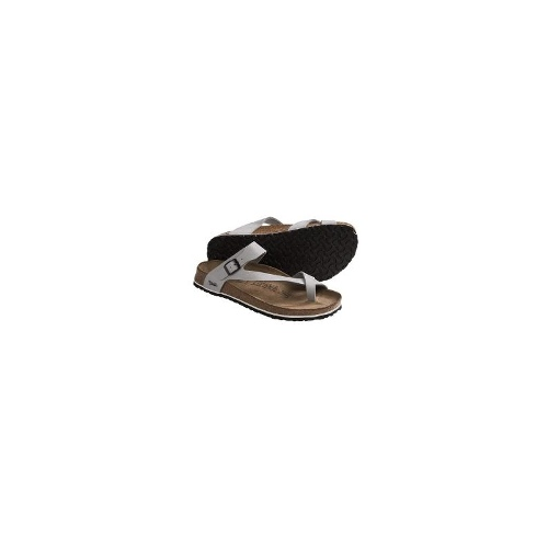 Birki's by Birkenstock Lennox Basic SB Sandals - Birko-flor(R) (For Women) - SILVER ( 39 )