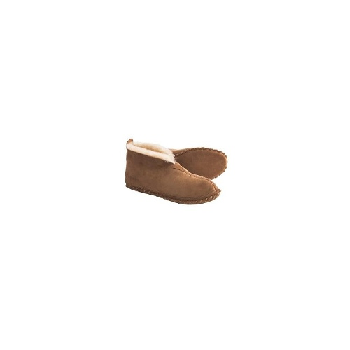 Acorn Sheep Bootie Slippers - Sheepskin (For Men) - OLIVE ( 10 )