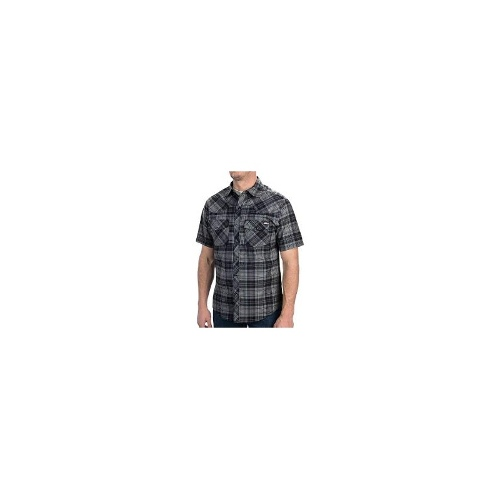 Dickies Western Plaid Shirt - Short Sleeve, Snap Front (For Men) - WHITE ( XL )