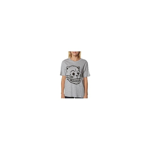 Cheap Monday Womens Tees - New Womens Cheap Monday Perfect Tee - Print Kitten Skull Ladies T-Shirt Top Size Extra Small