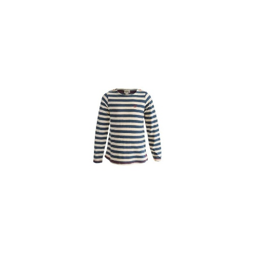 Hatley Button Shoulder Shirt - Slub Cotton, Long Sleeve (For Girls) - PINK/GREY STRIPES ( 2T )
