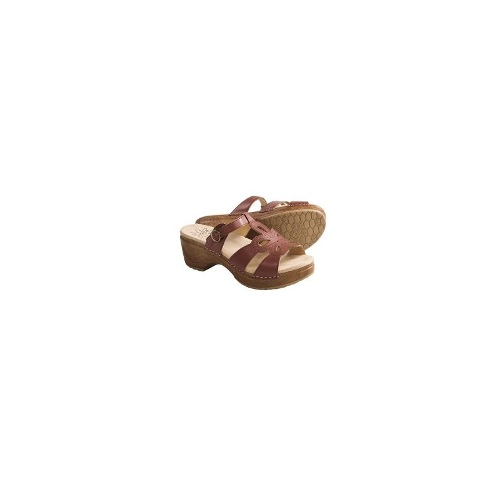 Sanita Dalia Sandals - Polished Leather (For Women) - BROWN ( 40 )