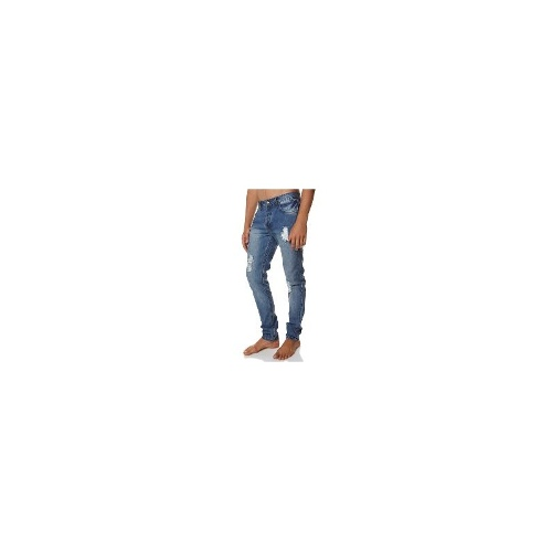 Thrills Mens Jeans Mens Slim Jeans - Wasted Drifter Jean By Thrills