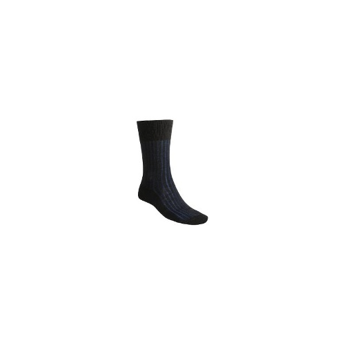 Falke Wool-Cotton Shadow Socks (For Men and Women) - 3082 ANTHRACITE MELANGE/BLUE ( 9.5/10.5 )
