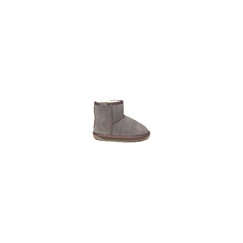EMU Wallaby Mini Kids Premium Cow Suede Boots Size 13 Charcoal