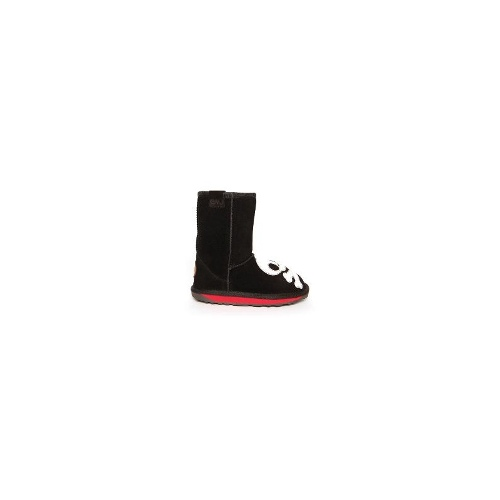 EMU Scallywag Kids Premium Cow Suede Boots Size 13 Black