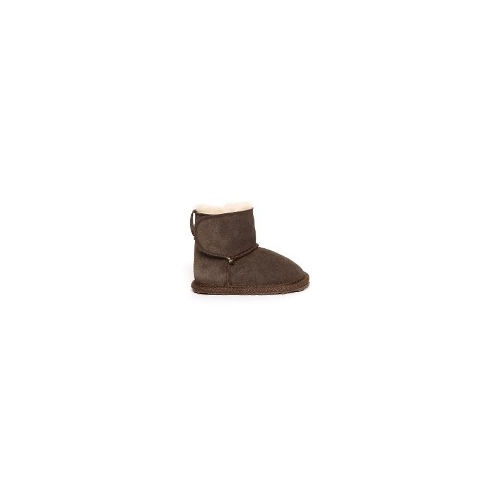 EMU Toddle Kids Premium Cow Suede Boots Size 12 Chocolate