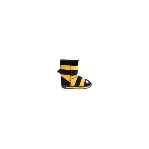 EMU Lc Bee Little Creatures Bee Kids Cow Suede Boots In Size 9 Black/Yellow
