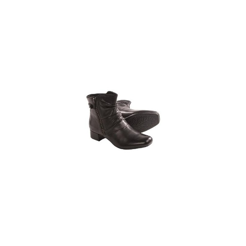 Earth Wickwire Ankle Boots- Side Zip (For Women) - BLACK CALF ( 9 )