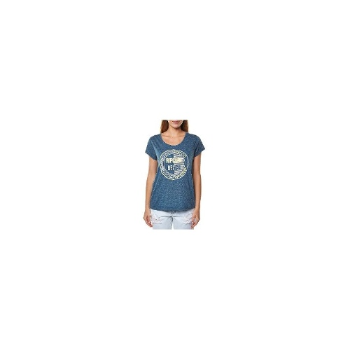 Rip Curl Womens Tees - New Womens Rip Curl Ganster Tee Ladies T-Shirt Top Size 12
