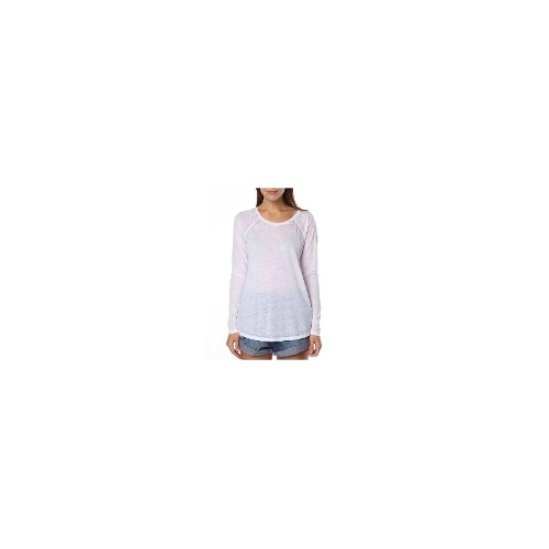 Volcom Womens Long Sleeve Tops - New Womens Volcom Lived In Burnout Ls Tee Ladies T-Shirt Top Size 10