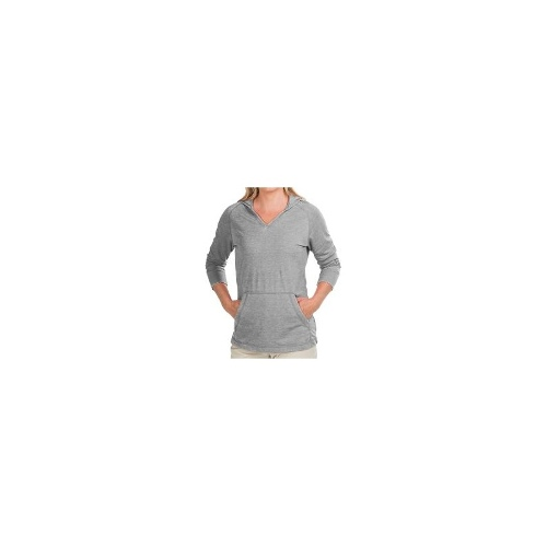 White Sierra Antique Hoodie Shirt - 3/4 Sleeve (For Women) - CORAL ( S )