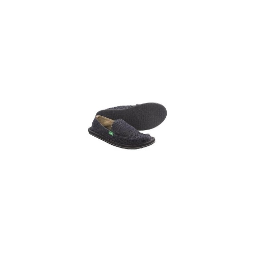 Sanuk Flutter Shoes - Slip-Ons (For Women) - BLACK ( 8 )