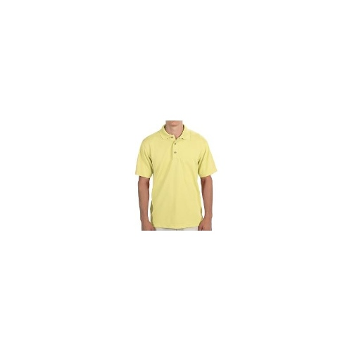 Cubavera Popcorn Knit Polo Shirt - Short Sleeve (For Men) - LEMON ( 2XL )