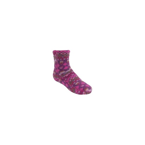 Acorn Versafit Tread Socks - Midweight, Fleece (For Kids) - WAVY FUCSHIA ( L )