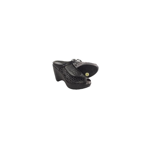 J-41 Angelina Wedge Sandals (For Women) - BLACK ( 9 )