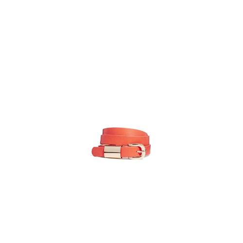 Oasis Metal Keeper Leather Belt - Coral