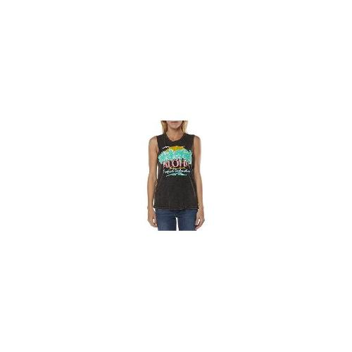 Afends - New Womens Afends Beach Life Muscle Ladies T-Shirt Top Size 8