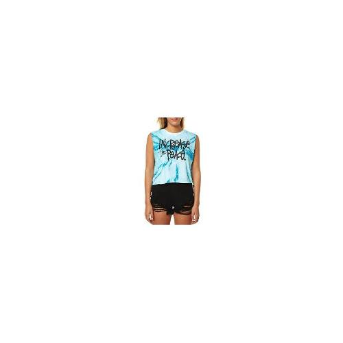 Stussy - New Womens Stussy Peace Tie Dye Crop Muscle Ladies T-Shirt Top Size 12