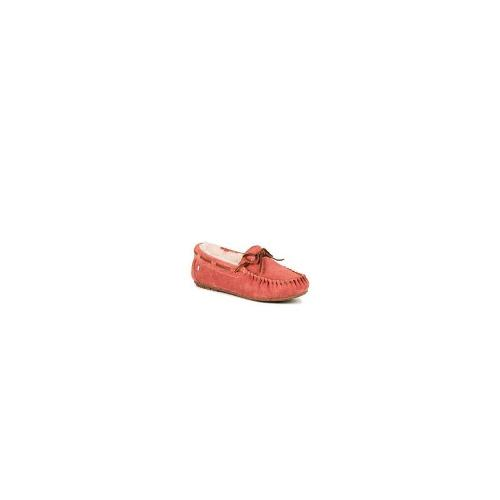 Emu Womens Moccasin Premium Sheepskin Lined Suede Slippers S 6 Blush
