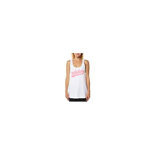 Adidas Womens Gym Singlets - New Adidas Women's Womens Training Graphic Script Tank Fitness Sport White Size Small