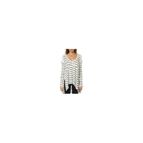 Free People - New Free People Women's Striped Sunset Park Womens Knit V-Neck Size Small