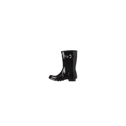 Hunter - New Hunter Women's - Original Short Gloss Wellington Boots Rubber Black Size 39