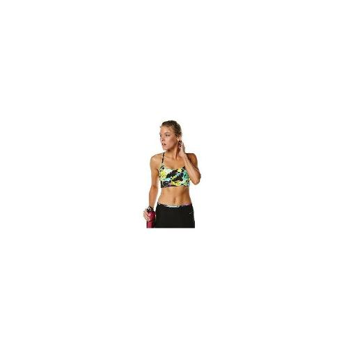 Running Bare Womens Gym Sports Bras - New Running Bare Women's Milly Second Skin X Back Crop Logo Fitness Sport Size 14