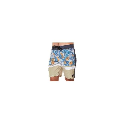 Rusty Mens Board Shorts - New Rusty Men's Nitrous Printed Boardshort Cotton Swimwear Size 33