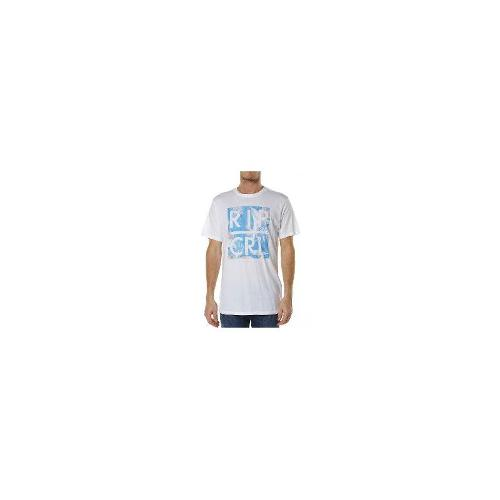 Rip Curl - New Rip Curl Men's Paradise Type Tee Crew Neck Cotton T-Shirt White Size Medium