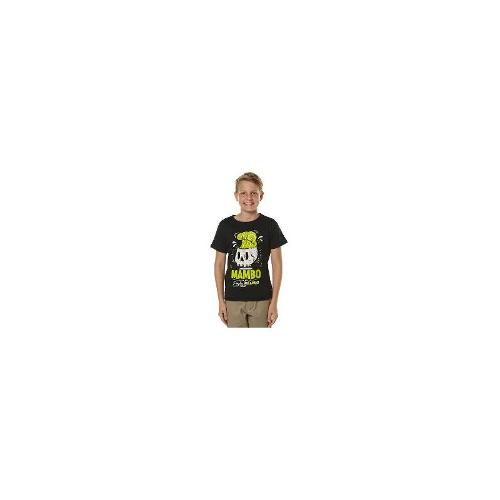 Mambo - New Mambo Boys Kids Boys Everyday Dreaming Tee Cotton Toddler Children Black Size 10
