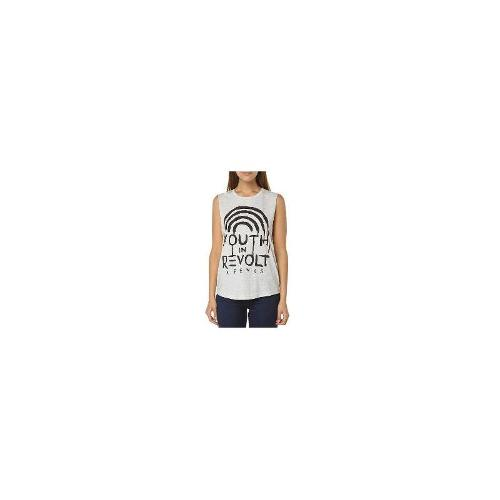 Afends - New Afends Women's Angst Womens Tank Crew Neck Cotton Tank Top White Size 12