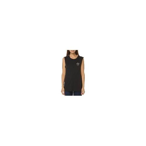 Rvca - New Rvca Women's Black Hats Womens Muscle Tank Crew Neck Cotton Tank Top Black Size Medium