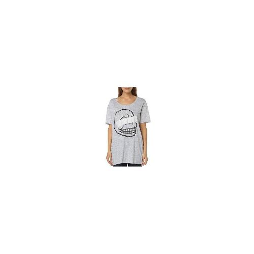 Cheap Monday Womens Tees - New Cheap Monday Women's Easy Womens Tee Short Sleeve Cotton T-Shirt Grey Size Small