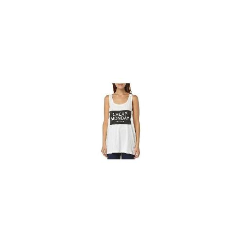Cheap Monday - New Cheap Monday Women's Nomi Womens Tank Cotton Tank Top White Size Medium