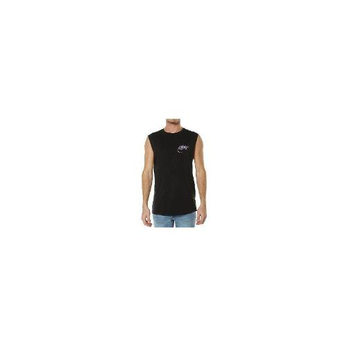 Afends - New Afends Men's Surf Rats Muscle Tank Crew Neck Cotton Vests Black Size Extra Large