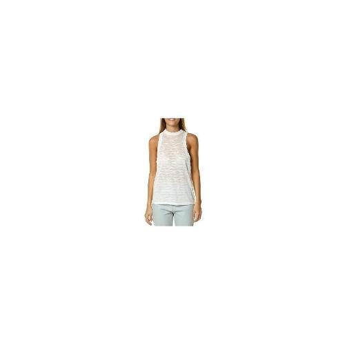 Lee - New Lee Women's Line Up Necked Tank Tank Top White Size 8