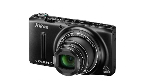 Nikon Coolpix S9500 Digital Camera - Black