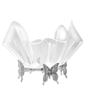 Arthur Court Serveware, Butterfly Large Bowl with Stand
