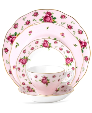 Royal Albert Dinnerware, Old Country Roses Pink Vintage 5 Piece Place Setting