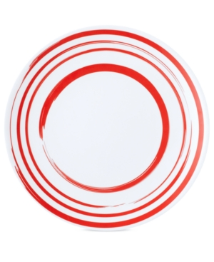 QSquared Dinnerware, Madison Bloom Brush Circles Melamine Dinner Plate