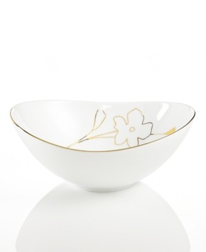 Charter Club Grand Buffet Gold Silhouette Eliptical Bowl, 10""