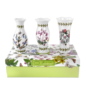 Portmeirion Vases, Set of 3 Botanic Garden Mini